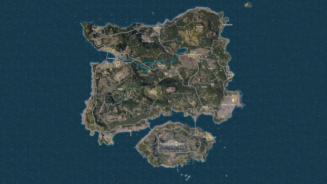 A map of Erangel